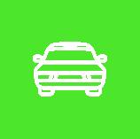 Icon Auto Grün Weiß