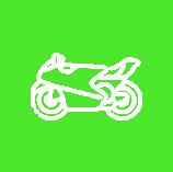 Icon Motorrad Grün Weiß