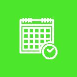 Icon Kalendar Grün Weiß