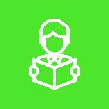 Icon Lernen Grün Weiß
